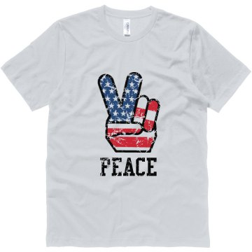 Peace Fingers Distressed