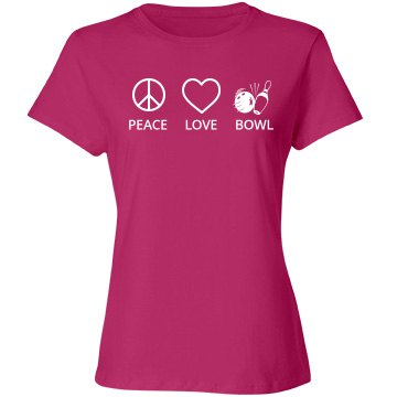 Peace love bowl shirt