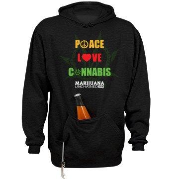 Peace Love Cannabis Munch Hoodie