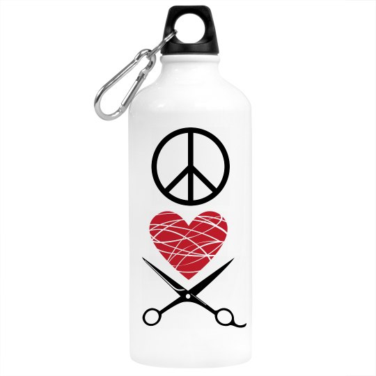 Peace, Love, Cos H2O Bottle - Cosmetology