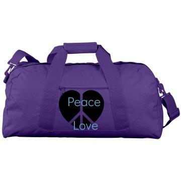 Peace Love duffle bag
