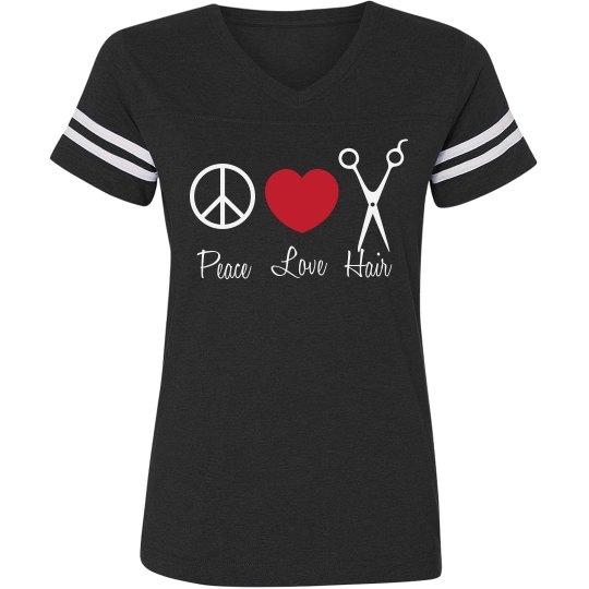 Peace, Love, Hair Tee