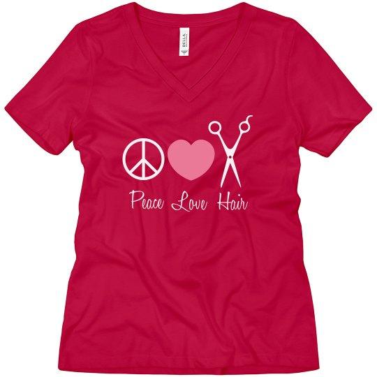 Peace, Love, Hair T-Shirt