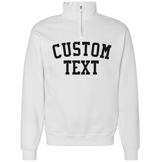 Personalize a Collared Sweatshirt