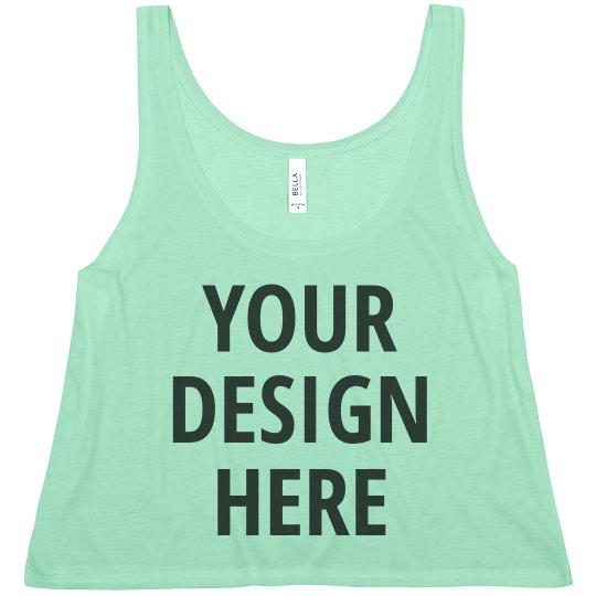 Personalize a Custom Printed Crop Top