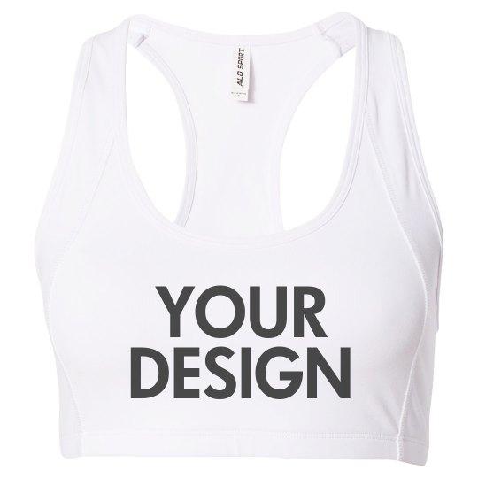 Personalize a Custom Sports Bra