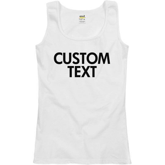 Personalize a Scoopneck Tank