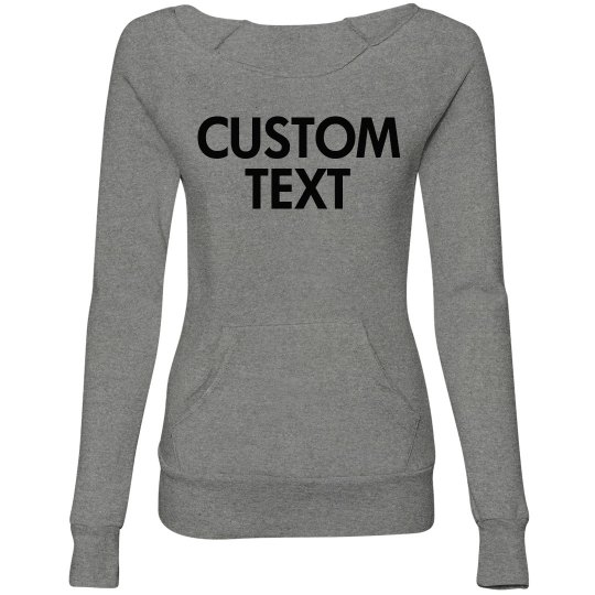 Personalize a Slouchy Sporty Sweater