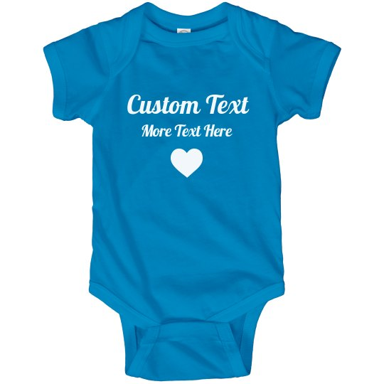 Personalized Baby Outfit with Custom Text