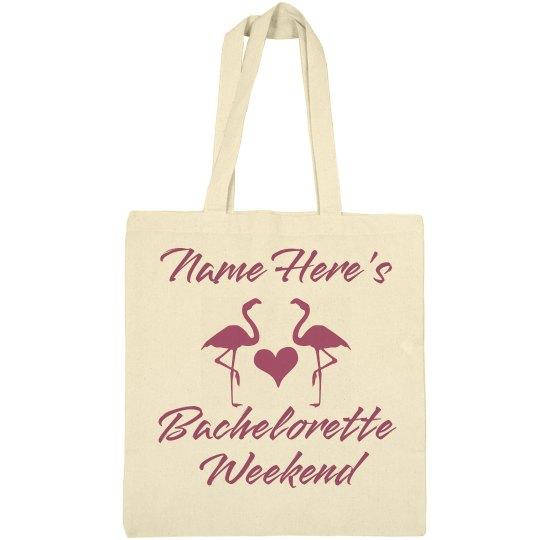 Personalized Bachelorette Weekend Beach Bag