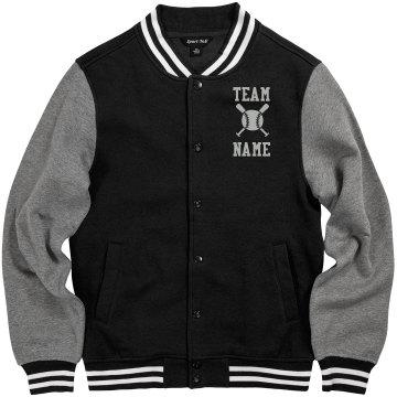 Personalized Baseball Coach Fleece Varsity Jacket