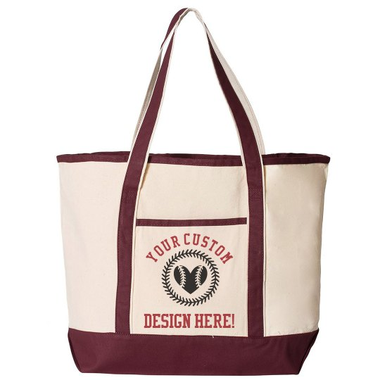 Personalized Baseball Mom Totes