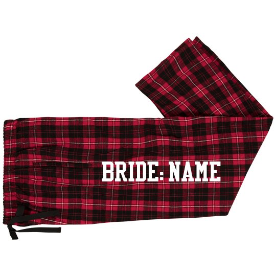Personalized Bride Jammy Pants