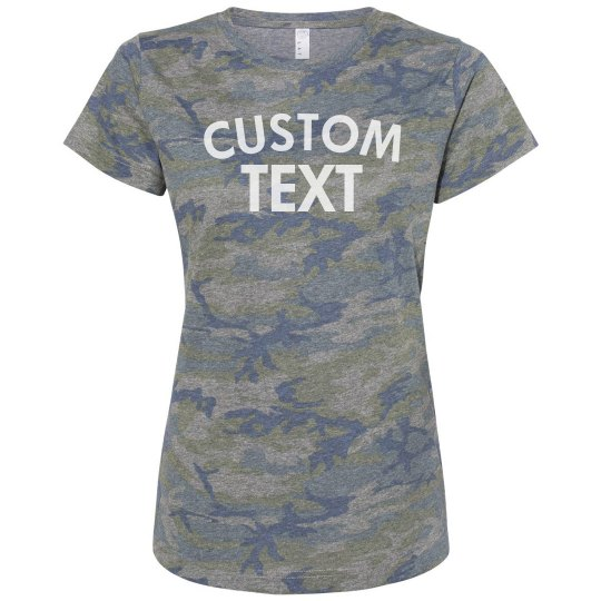 Personalized Camo T-Shirt