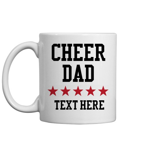 Personalized Cheer Dad Mug