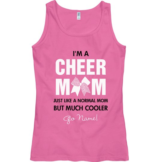 Personalized Cheer Mom Tank Top
