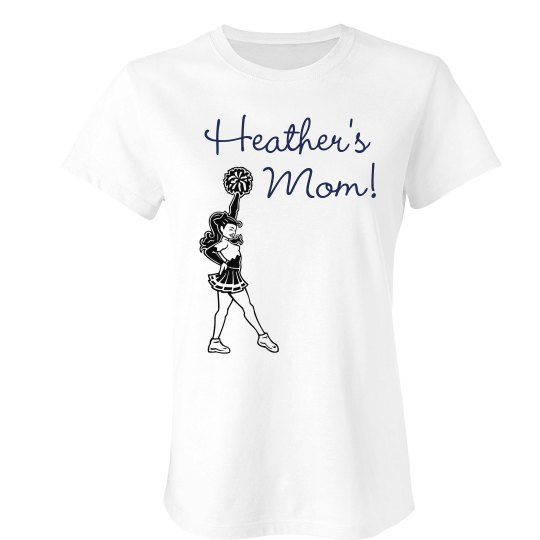 Personalized Cheer Mom Tee