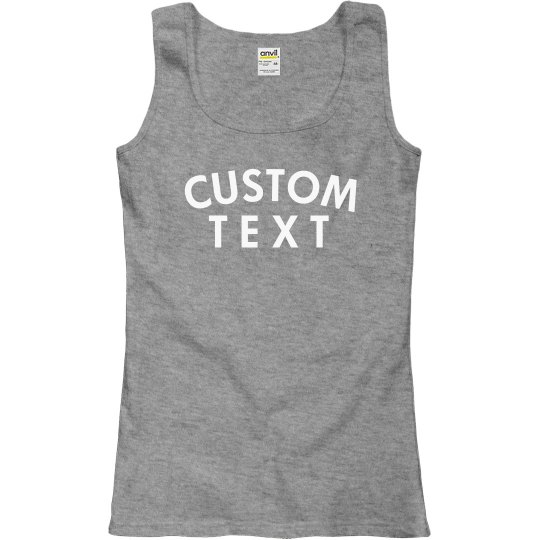 Personalized Comfy Ringspun Tank
