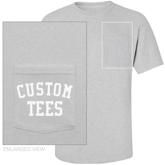Personalized Cotton Pocket Tees