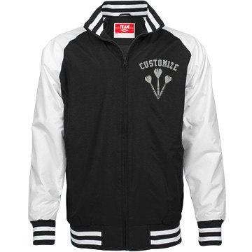 Personalized Darts Player Unisex Bomber Jacket