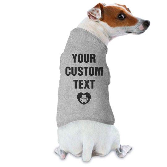Personalized Dog Tee Shirt
