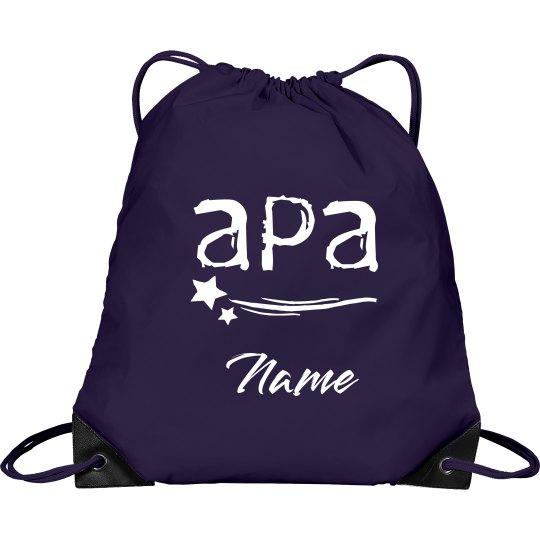 Personalized Drawstring bag APA