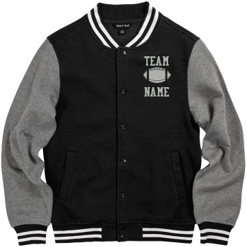 Personalized Football Coach Fleece Varsity Jacket