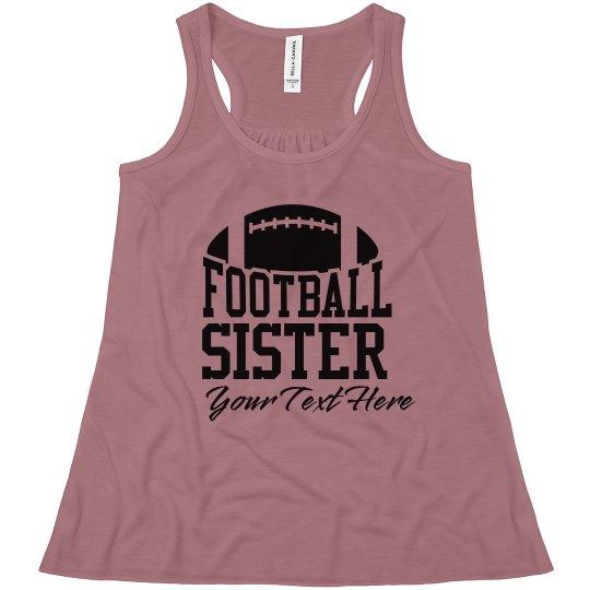 Personalized Football Sister Fan