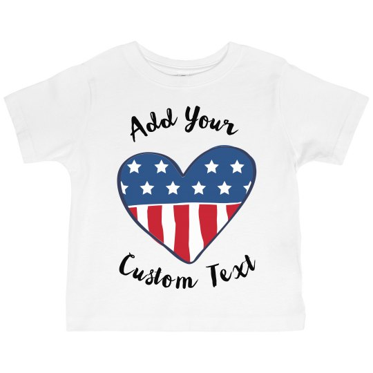 Personalized Fourth of July Tee