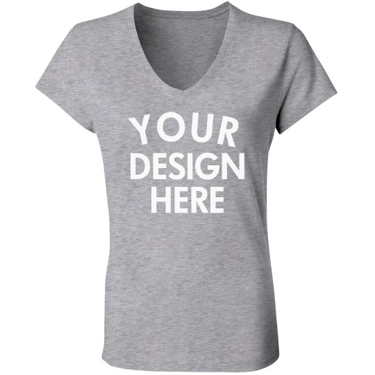 Personalized Jersey V-Neck Tee