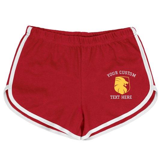 Personalized Lion School Shorts