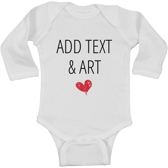 Personalized Long Sleeve Onesie Infant Long Sleeve Baby