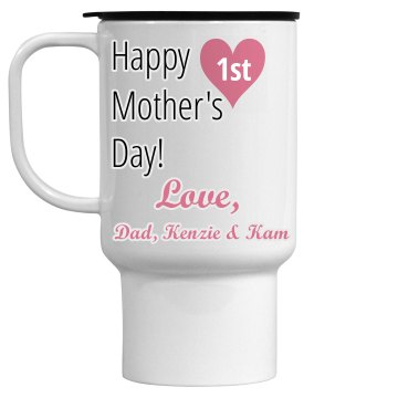 Personalized Mom Travel Mug