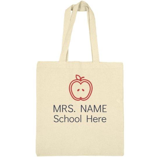 Personalized Mrs. Name Teacher Bag