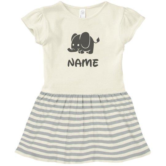 Personalized Name Elephant Gift