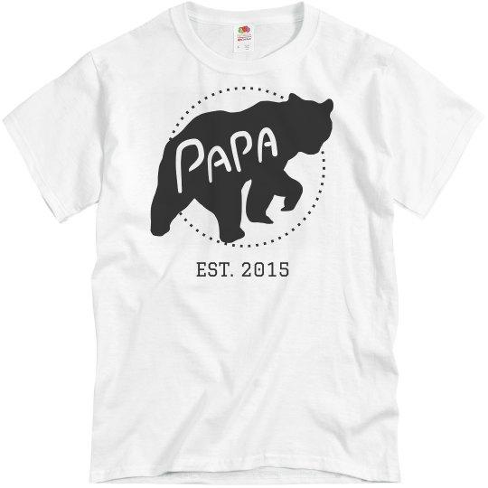 Personalized Papa Bear Dad Est.