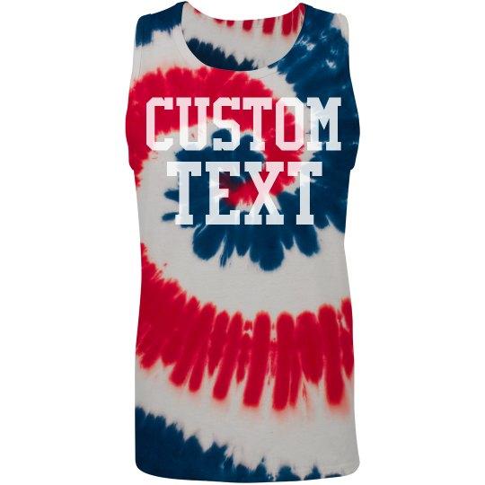 Personalized Patriotic Tie-Dye