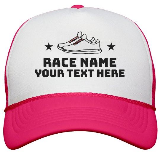 Personalized Race/5k Shoe Hat