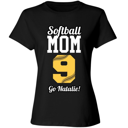 Personalized Softball Mom Shirt With Name Number
