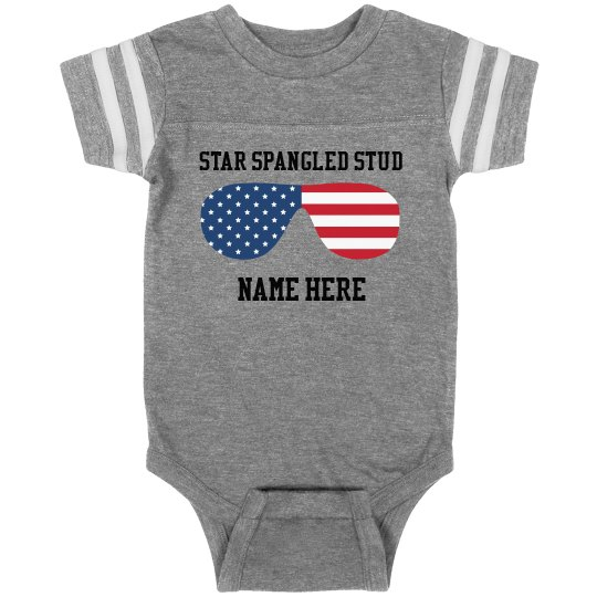 Personalized Star Spangled Stud