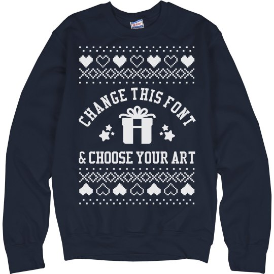 Personalized Tacky Christmas Sweater