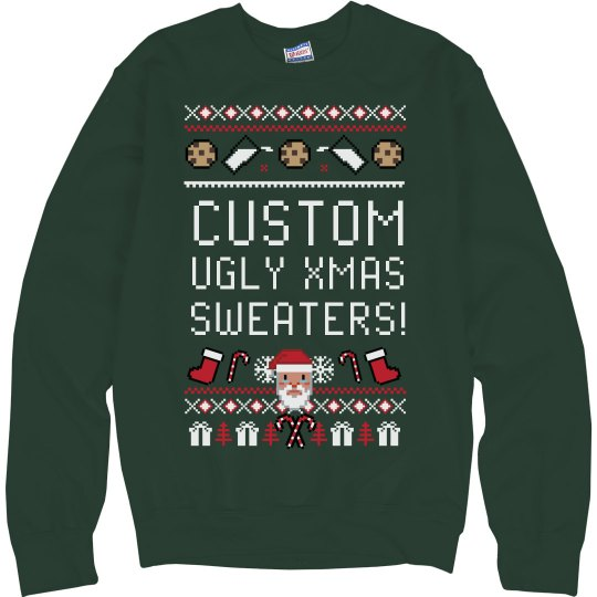 Personalized Text Tacky Xmas Sweater