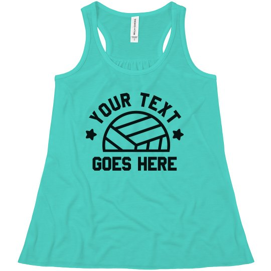 Personalized Text Volleyball Sister