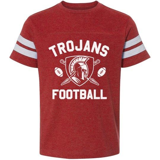 Personalized Trojans Football Kid