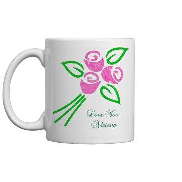 Personalized Tulip Mug