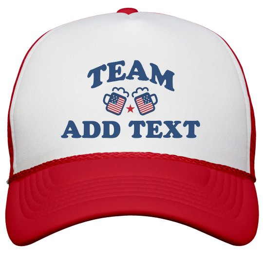 Personalized USA Drinking Team Hats