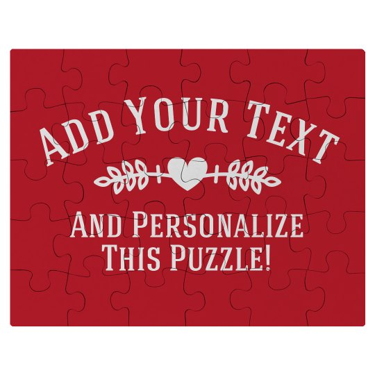 Personalized Valentine Puzzle