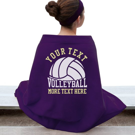 Personalized Volleyball Blanket