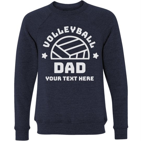 Personalized Volleyball Dad Text
