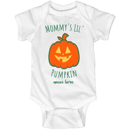 Personalized Your Name Mommy's Lil' Pumpkin Onesie